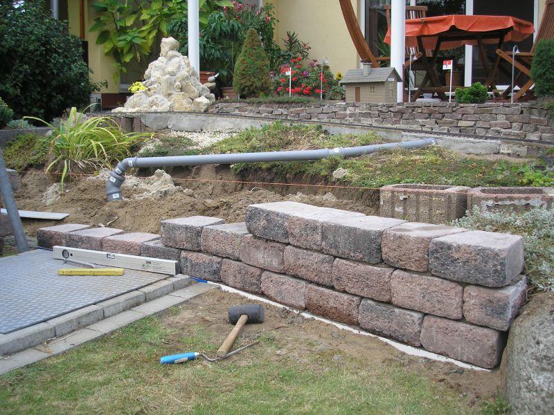 Baustelle am ludwigstein st tzmauer und neue trasse for Mur de cloture en pierre